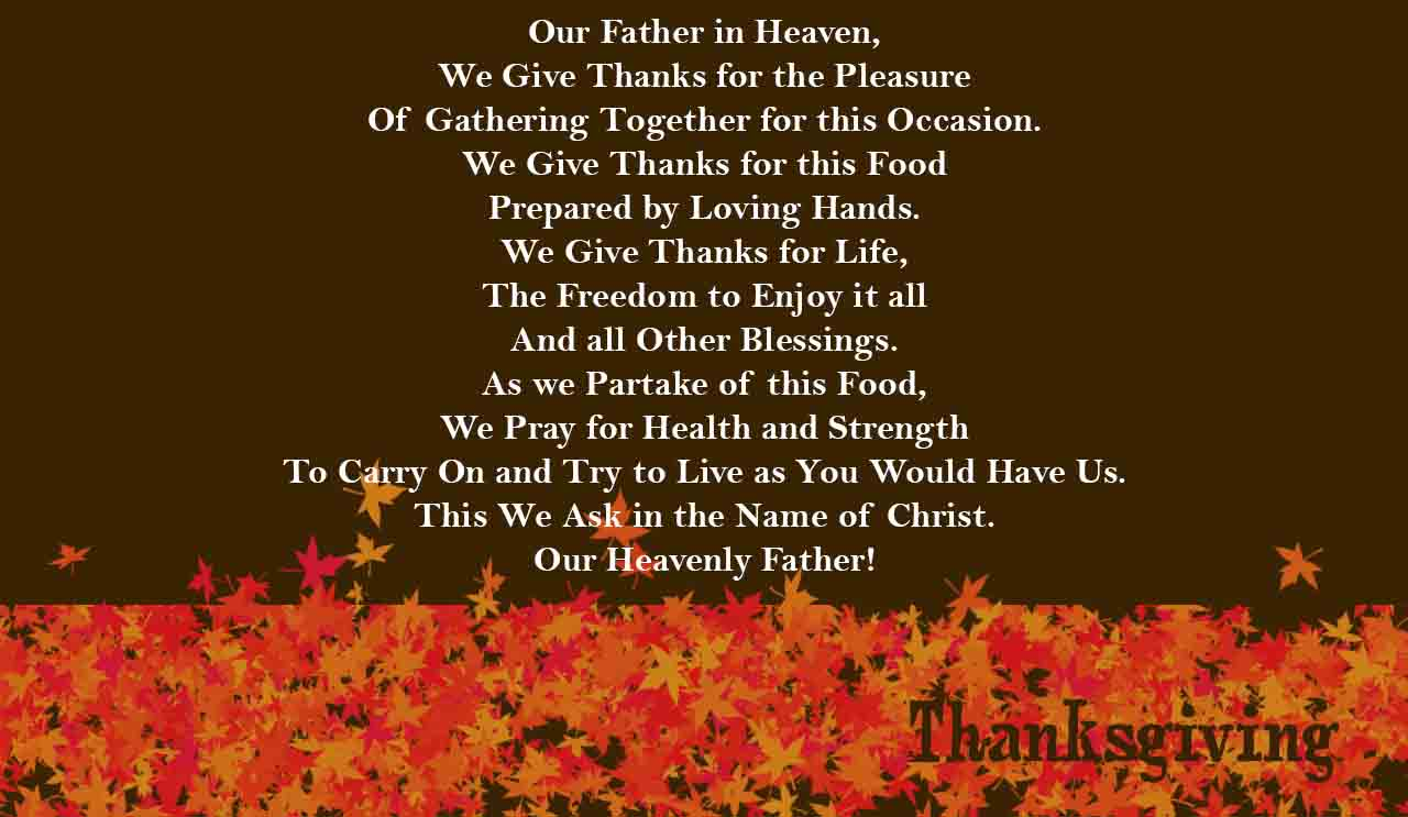 Best thanksgiving day prayer collection top web search kristyandbryce Gallery