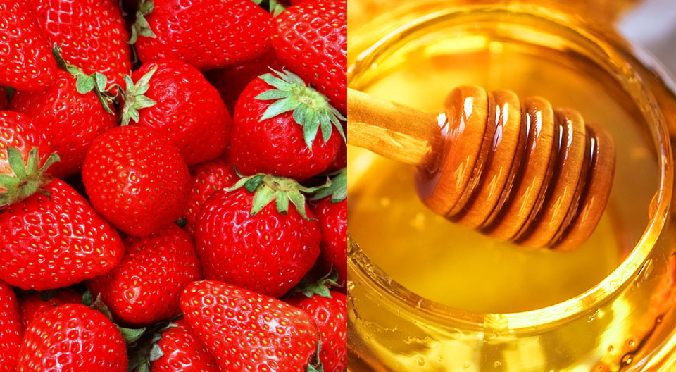 honey-strawberry-for-acne
