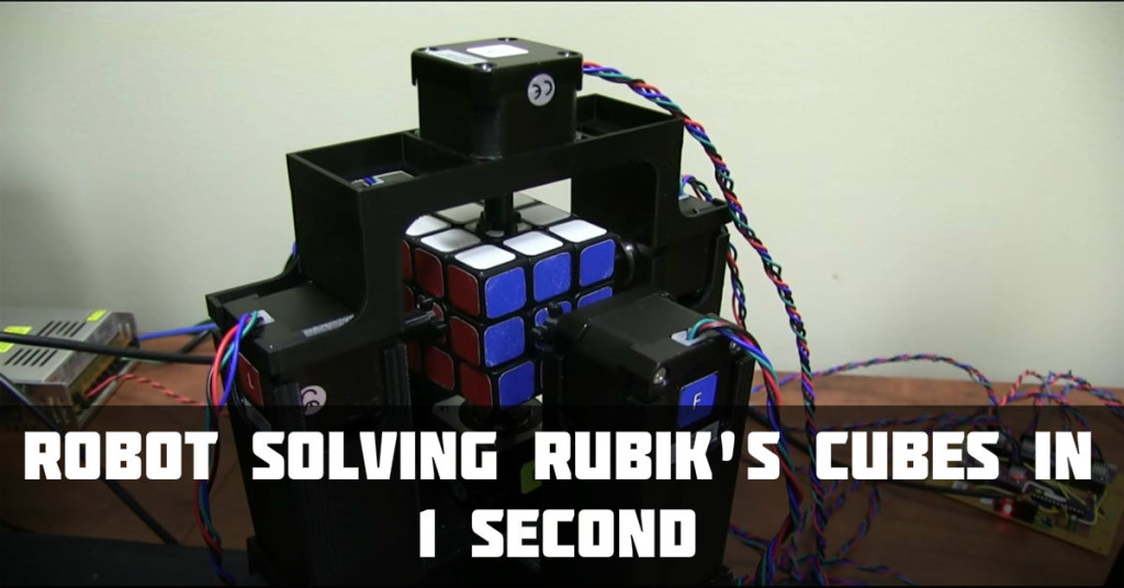 rubik cube in 1 second